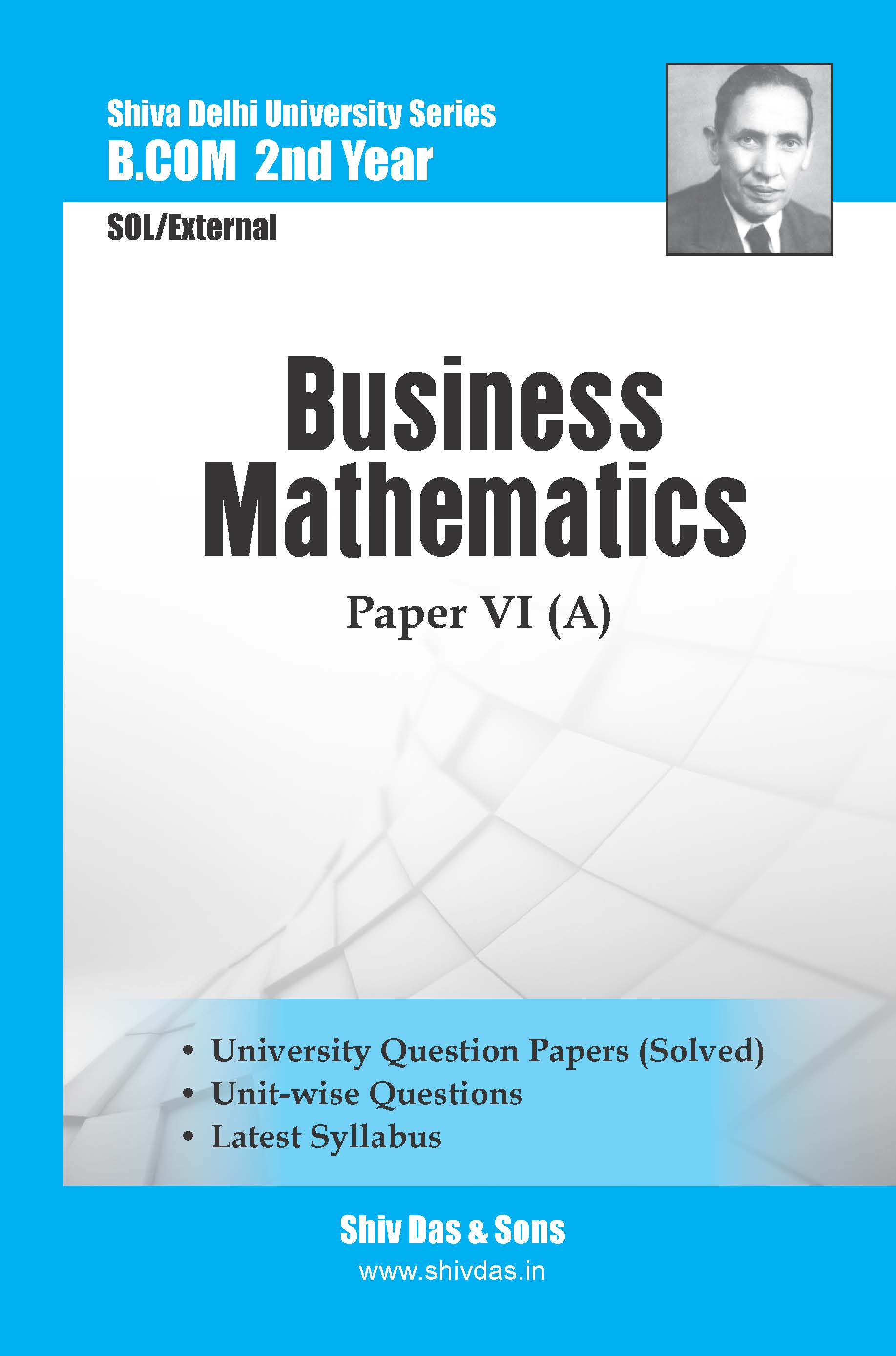 B.Com-2nd Year-SOL/External- Business Mathematics (Hindi Medium)-Shiv Das-Delhi University Series
